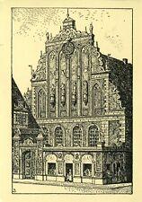 AK/postcard Otto Becker: schwarzhäupterhaus à Riga [Verlag Mare Balticum]