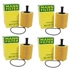 New Set of 4 Engine Oil Filters Mann for Audi A3 TT Quattro VW Beetle Golf Jetta