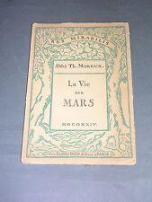 Astrophysique Abbé Th. Moreux la vie sur Mars 1924
