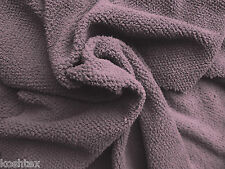 "Sherpa Knit Fleece Minky Feels Like Lamb Wool Fabric By Yard - Lilac 61""W"