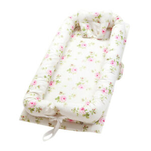 Baby Bassinet for Bed Baby Lounger Co-Sleeping Baby Bed Portable Crib Floral