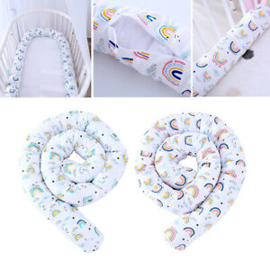 2.5M Baby Cot Bed Bumper Crib Infant Protector Cotton Bedding Pillow