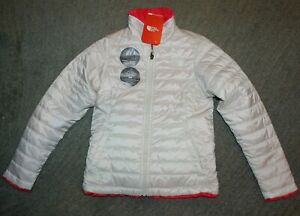 The North Face Girls Reversible Jacket (White / Hot Pink) - Size M (10-12) - NWT