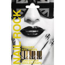 Nail Rock GOLD UNION JACK Designer Nail Wraps Foils Nail Art Upto 10 Day Wear
