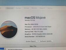 Apple Mac Pro 5,1 2010 A1289 3.46GHz Six Core 40GB Ram 960GB SSD Quadro 2GB