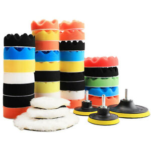 39Pcs Polishing Pad Kit Wool Sponge Buffing Pads Car Care Polisher Waxing Set