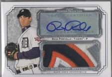2012 Topps Museum Collection Rick Porcello Auto Jumbo Logo Jersey Patch 7/10