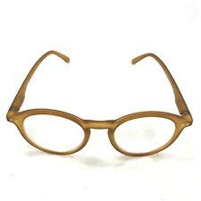 Izipizi Reading Glasses Prescription Rounded Frames Light Brown Pouch 281825