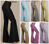 Chatoyant Stone Effect Hippie Bell Bottom Flare Stretch Pants Yoga Plus S-3X