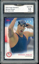 2016 Michael Phelps Topps Olympics Swimming gem mint 10 #1