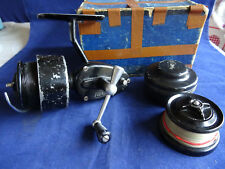 A VINTAGE 2ND MODEL MITCHELL (300 SIZE) SPINNING REEL WITH SPARE SPOOL + BOX