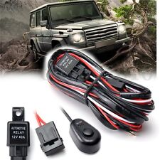 Car Auto Driving Fog light Wiring Harness Kit LED Work Light Bar Cable 40A 12V