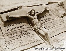 Sand Sculpture of Jesus Christ, Atlantic City, NJ - 1890 - Historic Photo Print