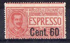 1922 REGNO ESPRESSO 60 CENTESIMI SU 50 INTEGRO C/3698