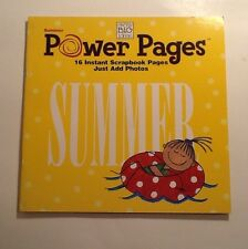 16 Pre-Made Scrapbook Sheets, Just Add Photos Power Pages Summer - Out Of Print!