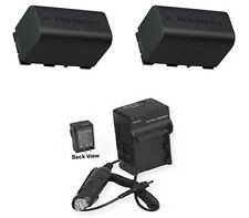 TWO 2 Batteries + Charger for JVC GZ-MS250A GZ-MS250BE GZ-MS250BU GZ-MS250BUC