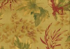 Waverly Fabric Aspen Falls  Gold Rust Green Microsuede Drapery Upholstery