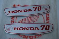 Honda CUB 70 C70 C70M Gas Tank Sticker Emblem Decal aluminium