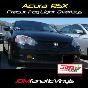 02-05 Acura RSX Fog Light Yellow Overlays JDM TINT Kit DC5 PRECUT Film HID