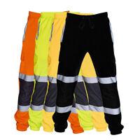 Reflective Hi Vis Long Pants Industrial Work Uniform Highway Rail Road S~3XL