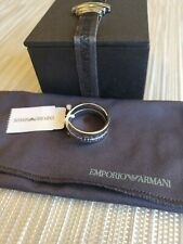 Women's Emporio Armani Stainless Steel Silver Armani Ring Size 9 EGS11320409