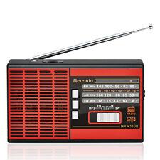 Free Shipping (Red)FM/AM/SW 3 BAND RADIO USB/TF CARD MP3 PLAYER MR-K36UR