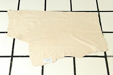 "Smooth ""Beachy Keen"" Beige Scrap Leather Hide Approx 6 sqft. L34M29-7"