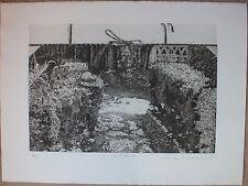 Chew WONG MOO - Gravure etching eau-forte signée numérotée carton à dessin **