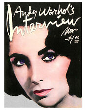 """Andy Warhol's Interview Nov.1976 Elizabeth Taylor COVER ART 16 x 20"""" HQ POSTER"""