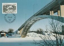 1987 Aland maxicard Marienhamn Bridge