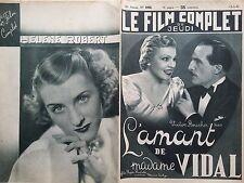 """LE FILM COMPLET 1937 N 1950 """" L'AMANT DE Mme VIDAL""""-ELVIRE POPESCO -VICTOR BOUCH"""