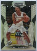 Grant Williams RC SILVER #87 2019 Panini Prizm Draft Picks Basketball Tennessee