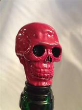 GOTHIC RED BLOOD SKULL NOVELTY WINE BOTTLE STOPPER,GIFT BOXED WINE POISON SAVER