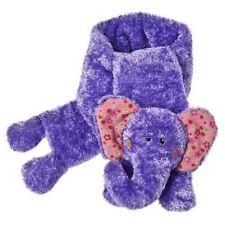Mary Meyer Cheery Cheeks Easy Peasy Purple Plush Elephant Scarf (37275) NEW!