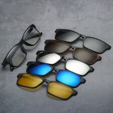 5 Pcs Magnetic Clip-on Sunglasses Polarized With TR Glasses Frames Classic Rx