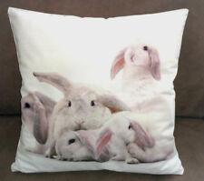 Kissenhülle 40 x 40 cm Hase Widder Schlappohr Hasen weiß