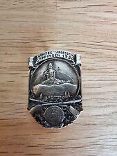 Abzeichen an Nadel 6. Württemberger Landesschießen Göppingen 1930 in Silber