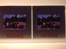 Lot 2 Vintage 1971 Kodachrome Group of Dudes Guys Car Photographs Color Slides
