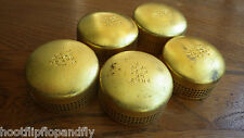 JOB LOT OF  5 PRIMUS STOVE BRASS CAPS HOOD OUTER SILENT BURNER CAP PARAFFIN CAMP