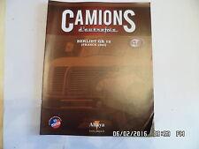 MAGAZINE CAMIONS D'AUTREFOIS N°44 BERLIET GR 12 1964     J40