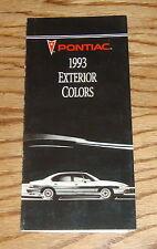 Original 1993 Pontiac Exterior Colors Sales Brochure 93 Firebird Grand Prix