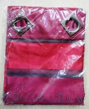 """Red Voile Curtains Tafetta Stripe on Organza 53 W x 102"""" D 135 x 260cm Redoute"""