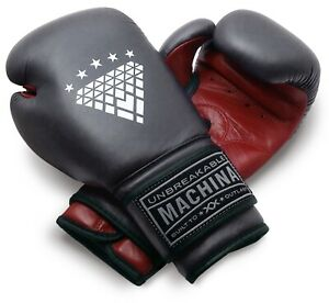 Machina Carbonado 12 Ounce Women's Leather Boxing Gloves - DARK RED/GRAY