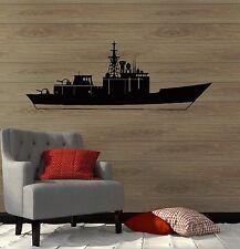 Wall Decal Aircraft carrier USS War Warship Military Ship Vinyl Mural (ig3023)