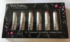 Royal Classic Lipstick Collection - 6 Assorted Colours. Bnib.