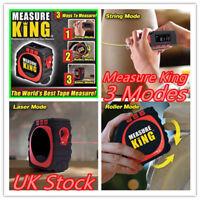 UK Measure King 3in1 Digital Tape Measure String Mode Sonic Mode And Roller Mode