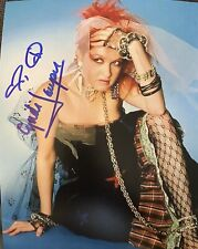 Cyndi Lauper Signed Autographed 8 X 10 Color Photo Sexy