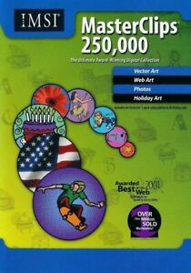 250,000 Masterclips - Clipart Collection - Vector PC CD-ROM Software - Brand New