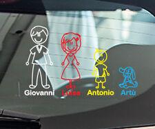 Stickers auto adesivi famiglia animali vetri auto tuning nome bimbo a bordo