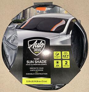 POLERO Car Interior Protect Accessories Sunflower Field Car Sun Shade for Windshield Universal Fit 2 Pack Sunshade Block Sun Glare UV and Heat